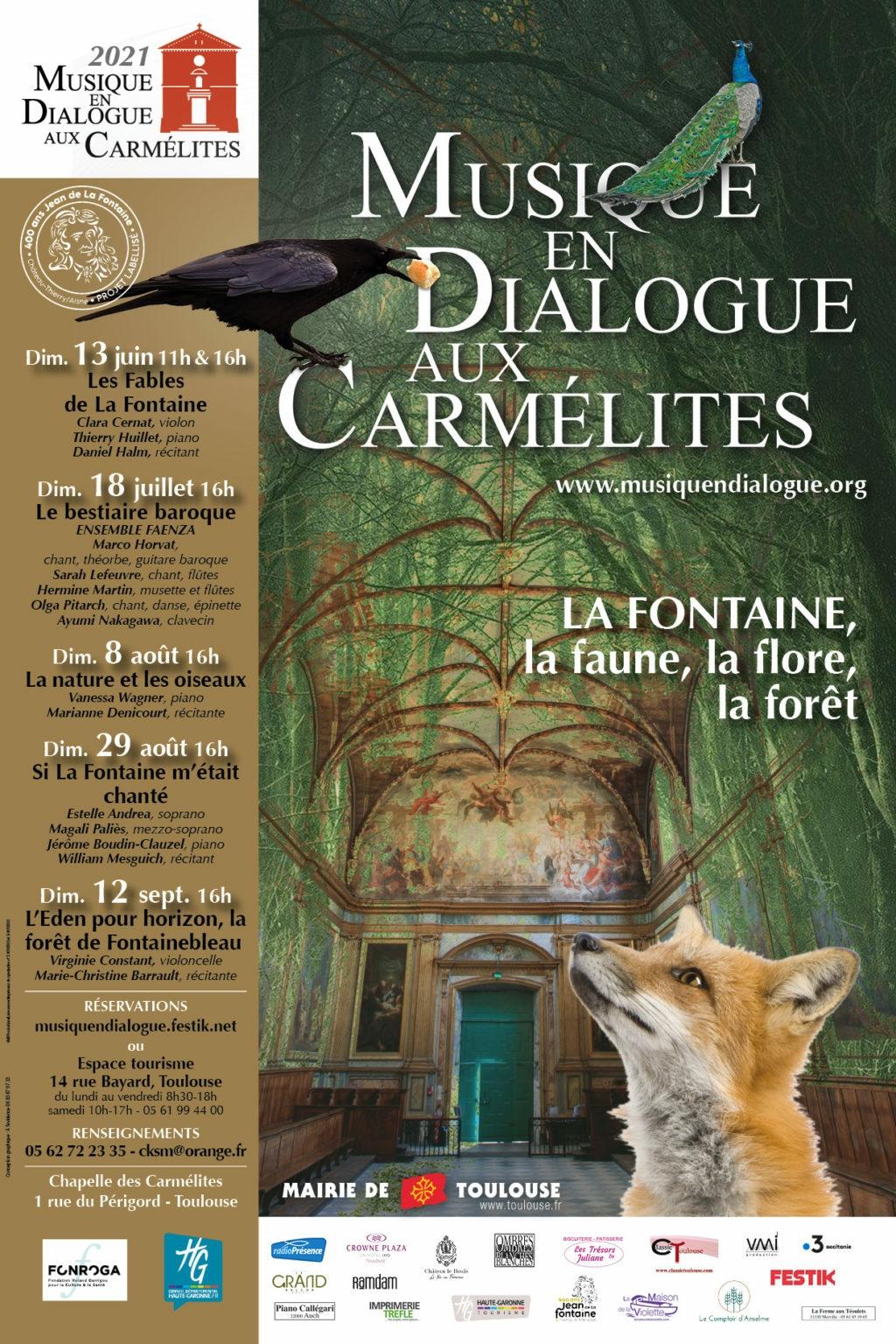 Toulouse : Clara Cernat et Thierry Huillet célèbrent La Fontaine à la chapelle des Carmélites